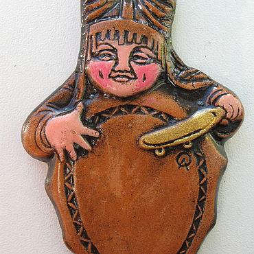 """Сувениры и подарки ручной работы. Ярмарка Мастеров - ручная работа Магнит """"Шаманёнок"""". Handmade."""