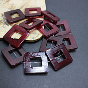 Материалы для творчества handmade. Livemaster - original item Beads frame Buffalo horn tinted 30mm. Handmade.