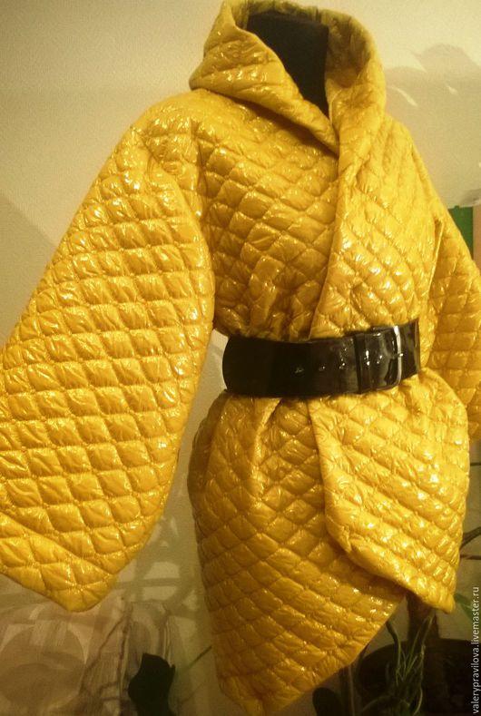 Верхняя одежда ручной работы. Ярмарка Мастеров - ручная работа. Купить Пальто стеганое. Handmade. Желтый, стильное пальто