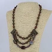 Украшения handmade. Livemaster - original item Necklace of agate