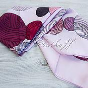 Аксессуары handmade. Livemaster - original item Silk Art Vanensis satin neck scarf