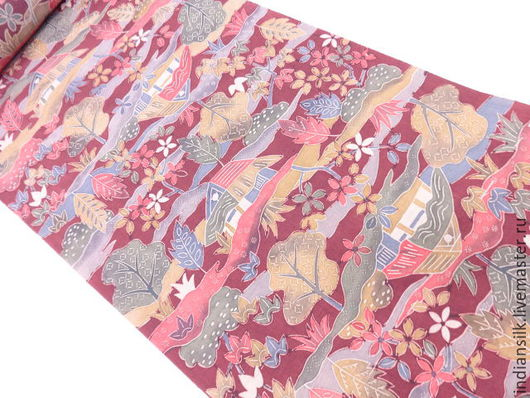 Шитье ручной работы. Ярмарка Мастеров - ручная работа. Купить Антикварный японский шелк 60х годов. Handmade. Комбинированный
