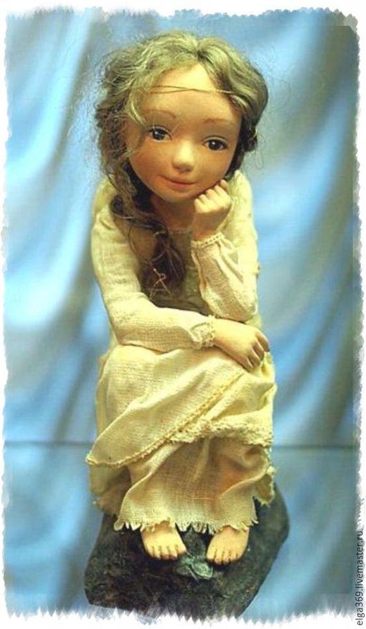 Коллекционные куклы ручной работы. Ярмарка Мастеров - ручная работа. Купить Авторская кукла Ангелёнушка. Handmade. Бежевый, ангел, ангелёнушка