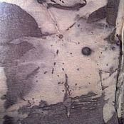 Одежда ручной работы. Ярмарка Мастеров - ручная работа Хлопковый трикотажный топ природно окрашенный.. Handmade.