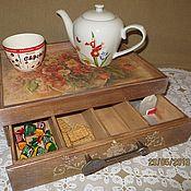 """Для дома и интерьера ручной работы. Ярмарка Мастеров - ручная работа Короб """"Летнее чаепитие"""".. Handmade."""