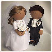 Куклы и игрушки ручной работы. Ярмарка Мастеров - ручная работа Свадебные куклы. Handmade.