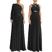 Одежда handmade. Livemaster - original item Dress, Evening dress, Long prom dress, black. Handmade.