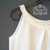 "Одежда ручной работы. Ярмарка Мастеров - ручная работа Блузка шелковая ""Белый туман"". Handmade."