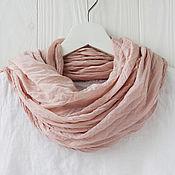 Аксессуары handmade. Livemaster - original item Soft peach cotton scarf-handkerchief. Handmade.