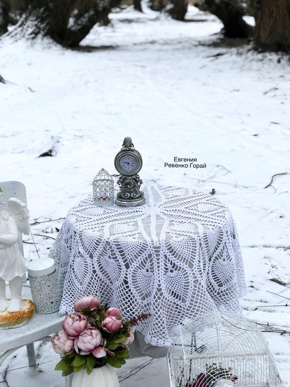 """Текстиль, ковры ручной работы. Ярмарка Мастеров - ручная работа. Купить Вязаная крючком скатерть """"Свежесть""""Ручная работа с любовью для Вас. Handmade."""