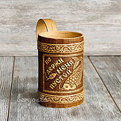 Для дома и интерьера handmade. Livemaster - original item Beer mug made of birch bark,