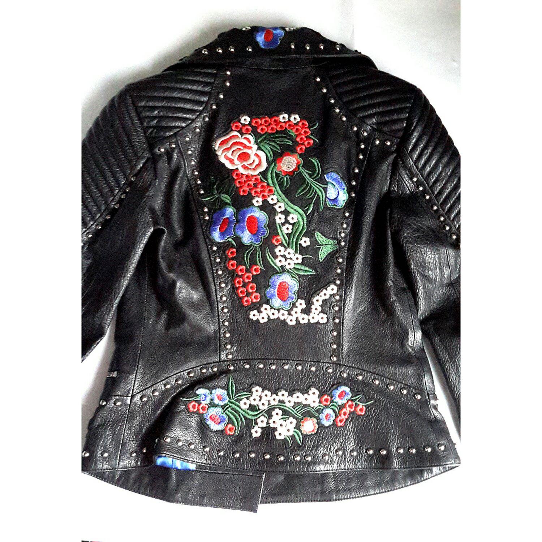 Кожаные куртки с вышивкой фото