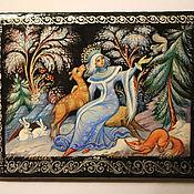 """Для дома и интерьера ручной работы. Ярмарка Мастеров - ручная работа Шкатулка лаковая """"Снегурочка 3"""". Handmade."""