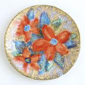 Посуда ручной работы. Ярмарка Мастеров - ручная работа Тарелка «Цветы». Handmade.