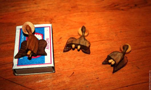 Народные куклы ручной работы. Ярмарка Мастеров - ручная работа. Купить Ангелы из дерева. Handmade. Оранжевый, хороший подарок, бамбук