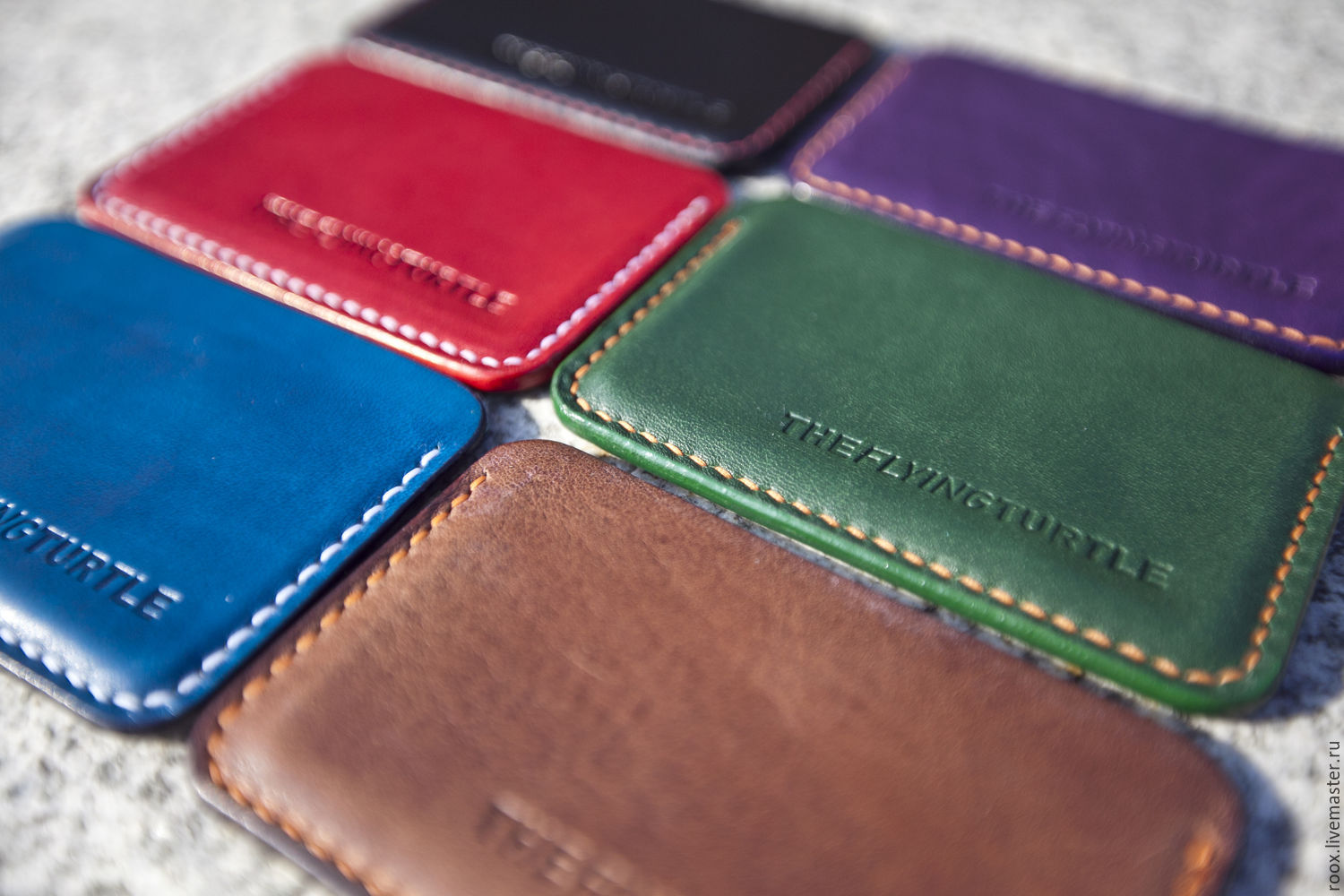 Buy The image card Holder leather Horween Chromexcel Pull Up on ...