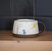 """Посуда ручной работы. Ярмарка Мастеров - ручная работа Кружка """"Девочка и ветер"""". Handmade."""