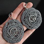 Earrings handmade. Livemaster - original item Porcelain earrings