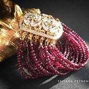 Украшения handmade. Livemaster - original item Garnet bracelet, garnet bracelet