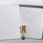 """Свадебный салон ручной работы. Ярмарка Мастеров - ручная работа Свадебный фотоальбом """"Белое ришелье"""" в коробке. Handmade."""