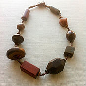 "Украшения handmade. Livemaster - original item Necklace ""Wooden jewels"". Handmade."