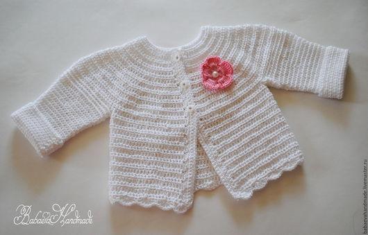 """Одежда для девочек, ручной работы. Ярмарка Мастеров - ручная работа. Купить Кофточка """"Нежность хлопка"""". Handmade. Белый, комплект для девочки"""