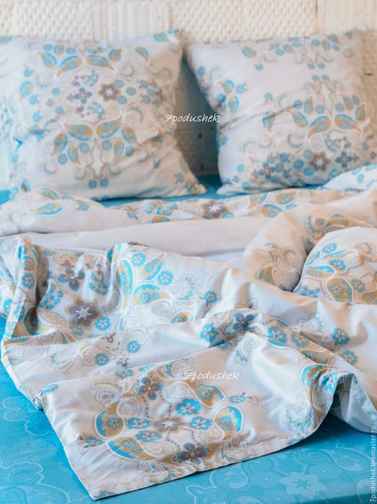 Текстиль, ковры ручной работы. Ярмарка Мастеров - ручная работа. Купить Постельное белье сатин Византийский узор. Handmade.