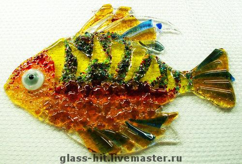 Фьюзинг.Рыбка.Стекло.Декор.