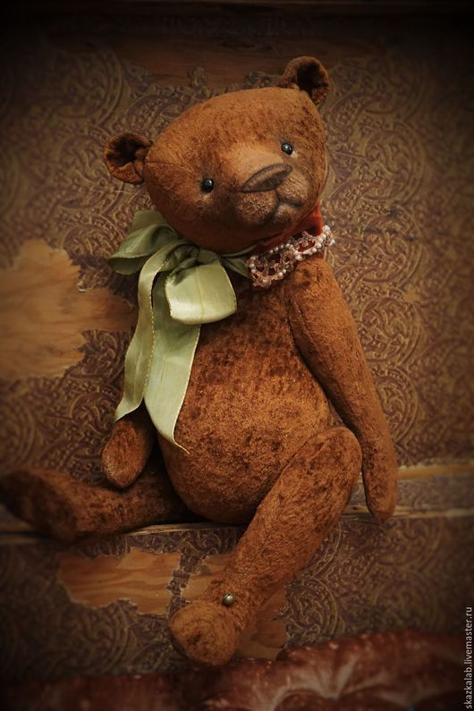 Мишки Тедди ручной работы. Ярмарка Мастеров - ручная работа. Купить Хранитель детства. Handmade. Коричневый, тедди, стеклянные глазки