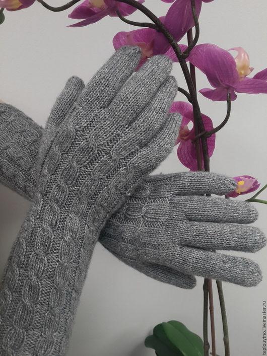 Варежки, митенки, перчатки ручной работы. Ярмарка Мастеров - ручная работа. Купить Перчатки кашемировые ручной работы. Handmade. Серый