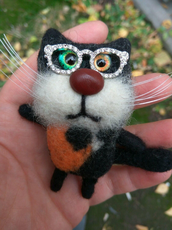 Toys & Hobbies Educational Felt cat figures Brooch