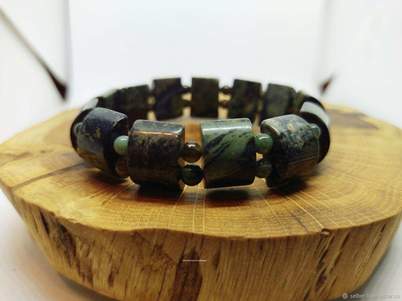 Amphibolite bracelet with a Thousand eyes, Bead bracelet, Gatchina,  Фото №1