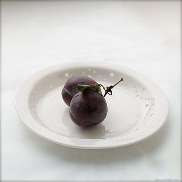 Посуда ручной работы. Ярмарка Мастеров - ручная работа Блюдце ручной работы КАНВА. Handmade.