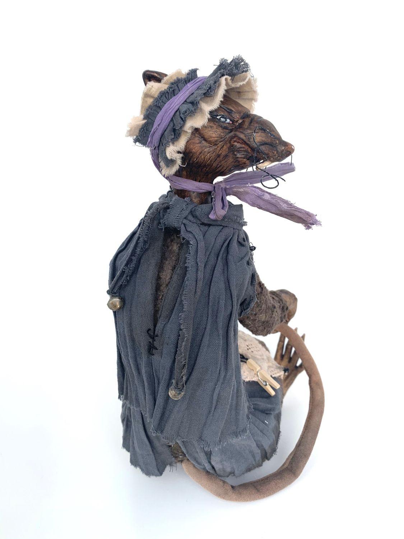 Крыса Шушара. Фарфоровая крыса. Коллекция «Золотой Ключик», Чердачная кукла, Кемерово,  Фото №1