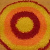 """Для дома и интерьера ручной работы. Ярмарка Мастеров - ручная работа """"бабушкин"""" коврик-кружок. Handmade."""