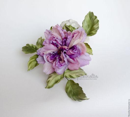 """Броши ручной работы. Ярмарка Мастеров - ручная работа. Купить Шелковая роза """"Элис"""". Цветы из шелка. Цветы из ткани. Handmade."""