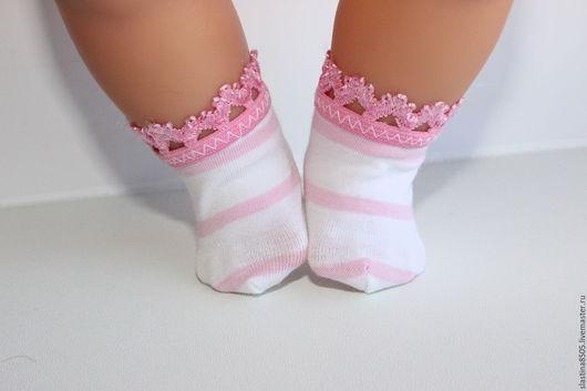 Одежда для кукол ручной работы. Ярмарка Мастеров - ручная работа. Купить Носочки для Бэби Борн. Handmade. Комбинированный