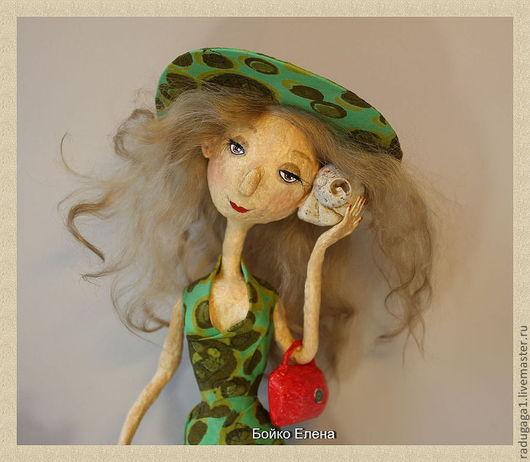 Коллекционные куклы ручной работы. Ярмарка Мастеров - ручная работа. Купить Шум моря. Handmade. Зеленый, коллекционная кукла, море