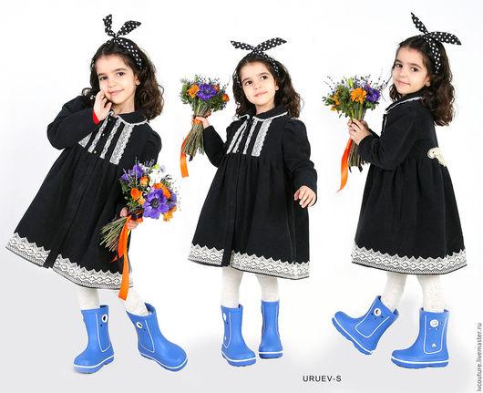 Одежда для девочек, ручной работы. Ярмарка Мастеров - ручная работа. Купить Пальто для девочки. Handmade. Темно-серый, металлическая фурнитура