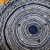 Для дома и интерьера ручной работы. Ярмарка Мастеров - ручная работа Cornflower Chebbi. Country carpet A0001. Плетёный коврик от Zapletain. Handmade.