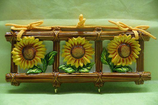 Кухня ручной работы. Ярмарка Мастеров - ручная работа. Купить Трио. Handmade. Оригинальный подарок, гипс, краски акриловые, крючки