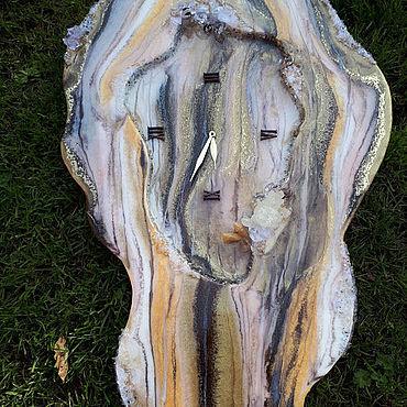 Для дома и интерьера ручной работы. Ярмарка Мастеров - ручная работа Часы: Срез камня. Handmade.