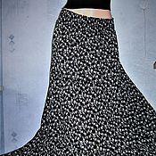 Одежда ручной работы. Ярмарка Мастеров - ручная работа ЮБка трехъяусная из марлевки( черно-белая). Handmade.