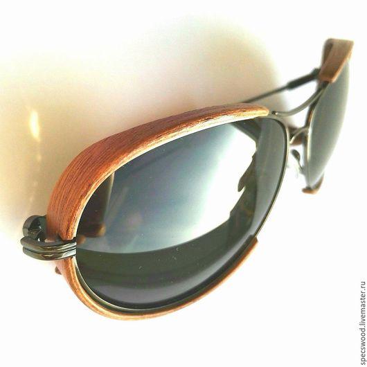 Очки ручной работы. Ярмарка Мастеров - ручная работа. Купить Солнцезащитные очки из дерева № 226. Handmade. Очки из дерева