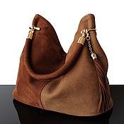 Сумки и аксессуары handmade. Livemaster - original item Bag: Suede bag Brown and beige Winter 2021. Handmade.
