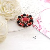 Brooches handmade. Livemaster - original item A beaded brooch