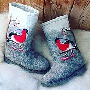 Обувь ручной работы handmade. Livemaster - original item Boots from not painted wool