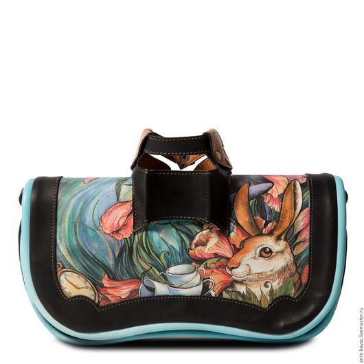 """Женские сумки ручной работы. Ярмарка Мастеров - ручная работа. Купить Клатч лангедок """"Чаепитие"""". Handmade. Комбинированный, стиль, заяц"""