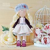 Куклы и игрушки ручной работы. Ярмарка Мастеров - ручная работа Интерьерная кукла в сером беретике. Handmade.