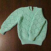 """Работы для детей, ручной работы. Ярмарка Мастеров - ручная работа Мятный свитерок """"А-ля Pandora"""". Handmade."""